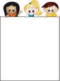 Crianças com papel Fotos de Stock