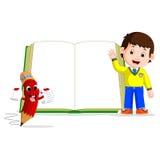 Crianças com um livro grande Foto de Stock Royalty Free