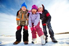 Crianças contentes imagens de stock royalty free