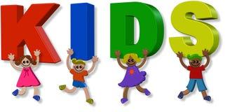 crianças 3d felizes Imagem de Stock Royalty Free