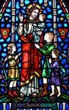 Crianças da bênção de Cristo Foto de Stock Royalty Free