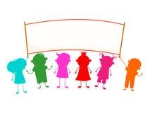 Crianças da bandeira Fotos de Stock