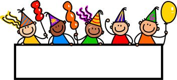 Crianças da bandeira do partido ilustração do vetor