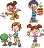 Crianças da ecologia Fotos de Stock