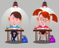 Crianças da escola ilustração do vetor