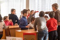 Crianças da escola da escola primária Imagens de Stock Royalty Free