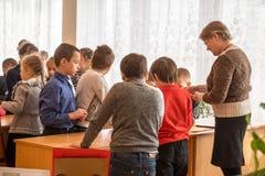Crianças da escola da escola primária Fotos de Stock