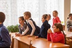 Crianças da escola da escola primária Foto de Stock