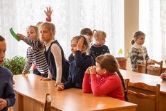 Crianças da escola da escola primária Foto de Stock Royalty Free