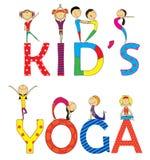 Crianças da ioga ajustadas Foto de Stock Royalty Free