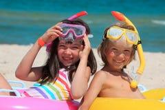 Crianças da praia Fotos de Stock Royalty Free