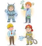 Crianças 3 da profissão Imagem de Stock Royalty Free