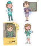 Crianças 6 da profissão Imagem de Stock Royalty Free