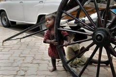 Crianças da rua em Calcutá Imagem de Stock