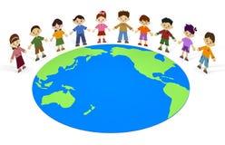 Crianças da terra Imagem de Stock