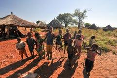 Crianças da vila de Mikuni, Zâmbia Fotos de Stock Royalty Free