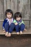 Crianças de Ásia, grupo étnico Meo, Hmong Foto de Stock Royalty Free