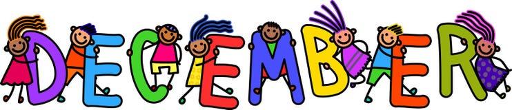 Crianças de dezembro ilustração royalty free