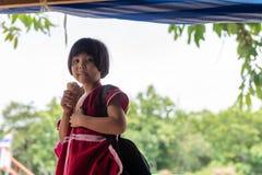 Crianças de Karen da escola de Banbongtilang Imagens de Stock