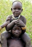Crianças de Mursi Foto de Stock Royalty Free