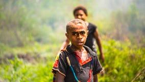 Crianças de Papua Gunea novo fotografia de stock royalty free