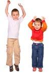 Crianças de salto imagem de stock royalty free