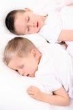 Crianças de sono imagem de stock