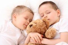 Crianças de sono fotografia de stock