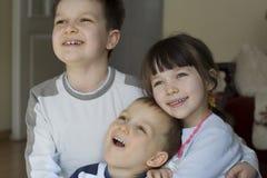 Crianças de sorriso Fotos de Stock Royalty Free