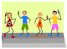 Crianças de Techno Ilustração Stock