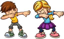 Crianças de toque ligeiro dos desenhos animados ilustração do vetor