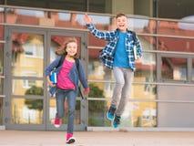 Crianças de volta à escola Fotos de Stock Royalty Free