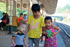 Crianças de Yangon Fotos de Stock Royalty Free