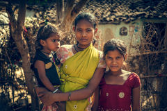 Crianças deficientes indianas Foto de Stock Royalty Free