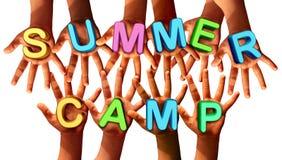 Crianças do acampamento de verão Fotografia de Stock Royalty Free
