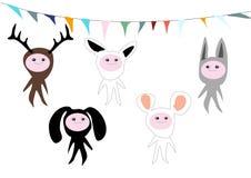 Crianças do animal de partido Imagens de Stock Royalty Free
