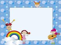 Crianças do cartão Fotografia de Stock