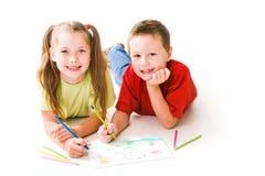 Crianças do desenho Fotografia de Stock