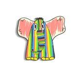 Crianças do desenho do elefante Fotografia de Stock Royalty Free