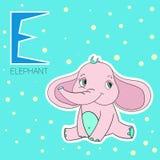 Crianças do elefante da letra E do alfabeto Imagens de Stock Royalty Free