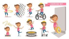 Crianças do esporte ilustração do vetor