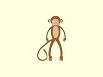 Crianças do estilo da cauda longa do macaco de Brown Imagem de Stock
