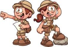 Crianças do explorador Fotos de Stock Royalty Free