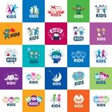 Crianças do logotipo do vetor Imagem de Stock Royalty Free