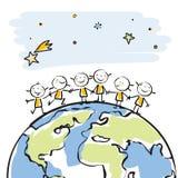 Crianças do mundo ilustração do vetor