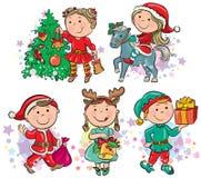 Crianças do Natal Fotografia de Stock