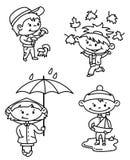 Crianças do outono Imagens de Stock Royalty Free