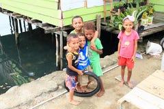Crianças do Papuan em Manokwari imagem de stock royalty free