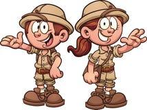 Crianças do safari Imagens de Stock