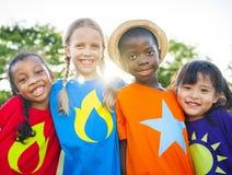 Crianças do super-herói Fotos de Stock